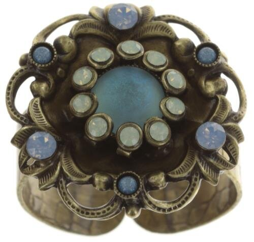 Konplott - Enchanted - Blau , Antikmessing, Ring
