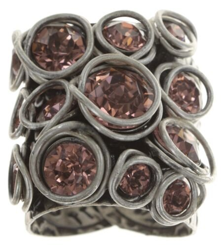 Konplott - Sparkle Twist - Rosa, Blush Rose, Antiksilber, Ring