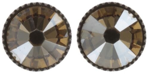 Konplott - Black Jack - Beige, crystal golden shadow , Antiksilber, Ohrringe stud-flat